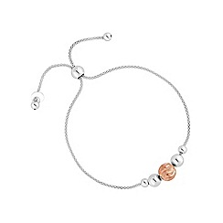 Simply Silver - Sterling silver diamond cut bead bracelet