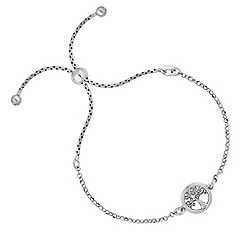 Simply Silver - Sterling silver tree of life toggle bracelet