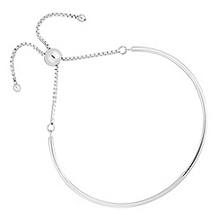 Simply Silver - Sterling silver bangle toggle bracelet