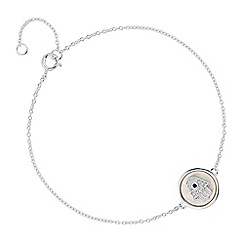 Simply Silver - Sterling silver hamsa hand disc bracelet
