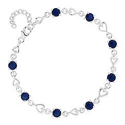 Simply Silver - Sterling silver heart link bracelet