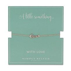 Simply Silver - Sterling silver love bracelet