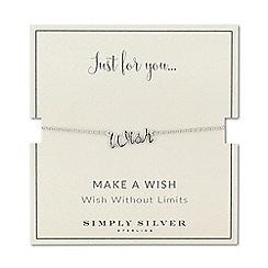 Simply Silver - Sterling silver wish bracelet