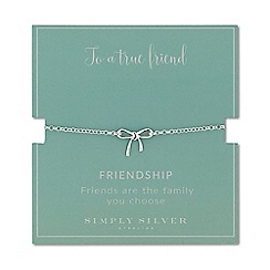 Simply Silver - Sterling silver bow bracelet