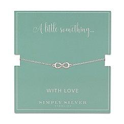 Simply Silver - Sterling silver infinity bracelet