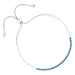 Simply Silver - Sterling silver cubic zirconia toggle bracelet