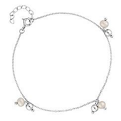 Simply Silver - Sterling silver pearl bead bracelet