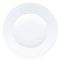 Jasper Conran at Wedgwood - White 'Embossed strata' 27cm plate