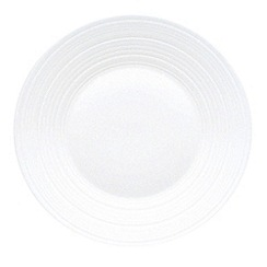 Jasper Conran at Wedgwood - White 'Embossed strata' 23cm plate