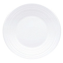Jasper Conran at Wedgwood - White 'Embossed strata' 18cm plate