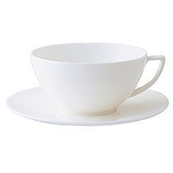 Jasper Conran at Wedgwood - White 'Embossed strata' tea saucer