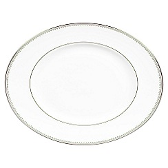 Vera Wang Wedgwood - White 'Grossgrain' 35cm oval dish