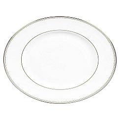 Vera Wang Wedgwood - White 'Grossgrain' 39cm oval dish