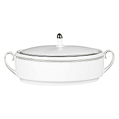 Vera Wang Wedgwood - White 'Grossgrain' covered vegetable dish
