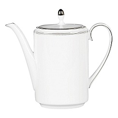Vera Wang Wedgwood - White 'Grossgrain' coffee pot