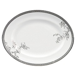 Vera Wang Wedgwood - White 'Lace' oval dish