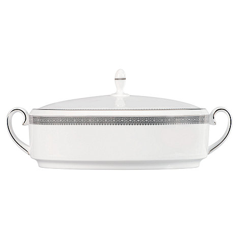 Vera Wang Wedgwood - White +Lace+ covered vegetable dish