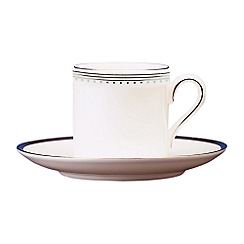 Vera Wang Wedgwood - White 'Grossgrain' bond coffee saucer