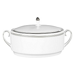 Vera Wang Wedgwood - White 'Grossgrain' soup tureen