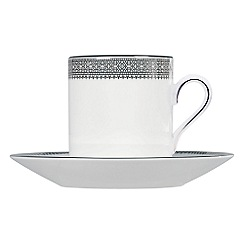 Vera Wang Wedgwood - White 'Lace' coffee saucer