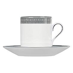 Vera Wang Wedgwood - White 'Lace' coffee saucer