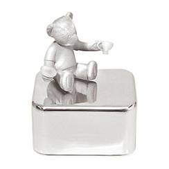 Wedgwood - Silver 'Christening Bear Collection' music box