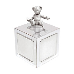 Wedgwood - Silver 'Christening Bear Collection' money box