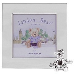 Wedgwood - Silver 'Christening Bear Collection' photo frame