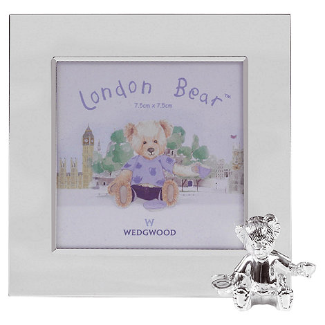 Wedgwood - Silver +Christening Bear Collection+ photo frame