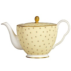 Wedgwood - Yellow polka dot 'Harlequin' teapot