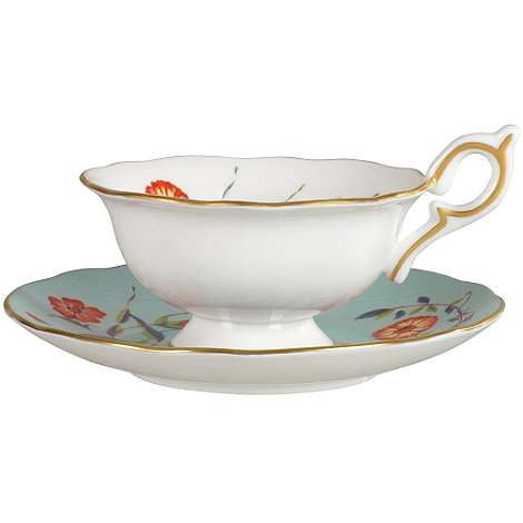 Wedgwood - Turquoise +Harlequin+ crocus teacup and saucer
