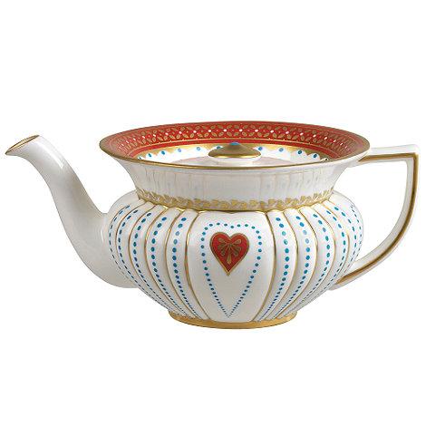 Wedgwood - Harlequin +Queen of Hearts+ teapot