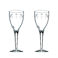 John Rocha at Waterford Crystal - Set of two 'Geo' 24% lead crystal goblets