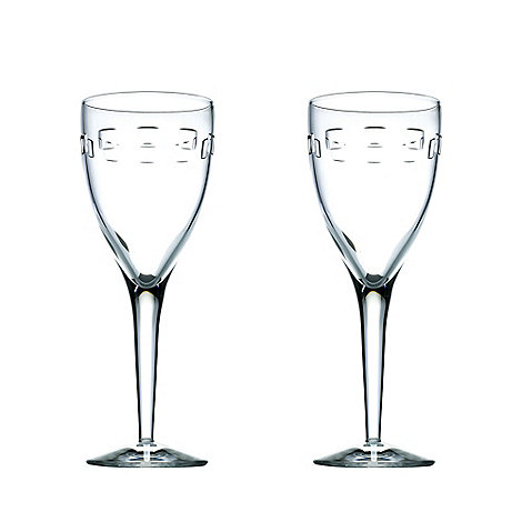John Rocha at Waterford Crystal - Set of two +Geo+ 24% lead crystal goblets