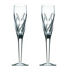 John Rocha at Waterford Crystal - Set of two 'Signature' 24% lead crystal flutes