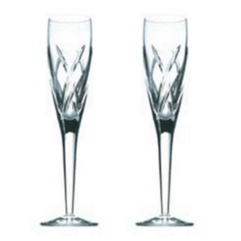 John Rocha at Waterford Crystal - Set of two +Signature+ 24% lead crystal flutes