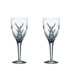 John Rocha at Waterford Crystal - Set of two 'Signature' 24% lead crystal wine glasses