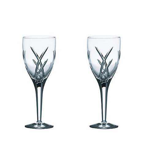 John Rocha at Waterford Crystal - Set of two +Signature+ 24% lead crystal wine glasses