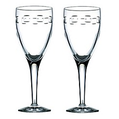 John Rocha at Waterford Crystal - Pair of 'Geo' 24% lead crystal red wine glasses