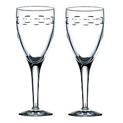 John Rocha at Waterford Crystal - Pair of 'Geo' 24% lead crystal red wine glasses