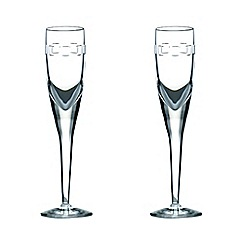 John Rocha at Waterford Crystal - Set of two 'Geo' 24% lead crystal flutes