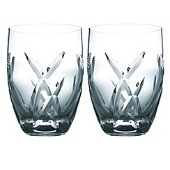 John Rocha at Waterford Crystal - Set of two 'Signature' 24% lead crystal tumblers