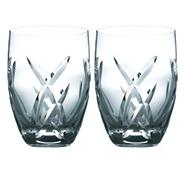 Set of two 'Signature' 24% lead crystal tumblers