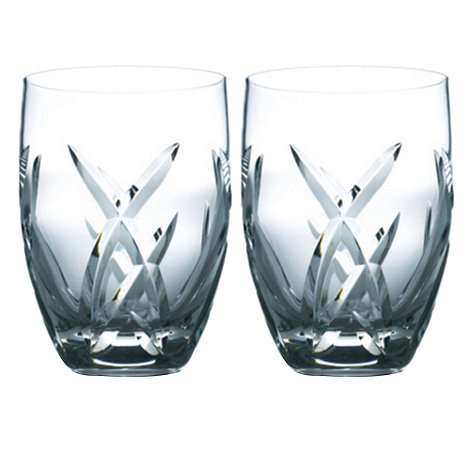 John Rocha at Waterford Crystal - Set of two +Signature+ 24% lead crystal tumblers