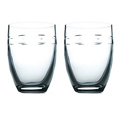 John Rocha at Waterford Crystal - Set of two 'Geo' 24% lead crystal tumblers