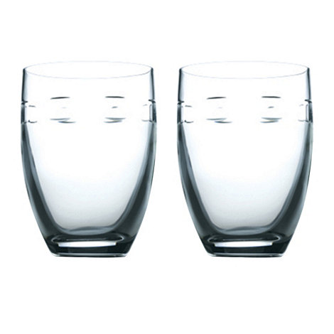 John Rocha at Waterford Crystal - Set of 2 lead crystal +Geo+ tumblers