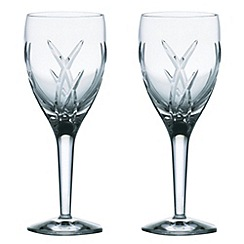 John Rocha at Waterford Crystal - Set of two 'Signature' 24% lead crystal white wine glasses