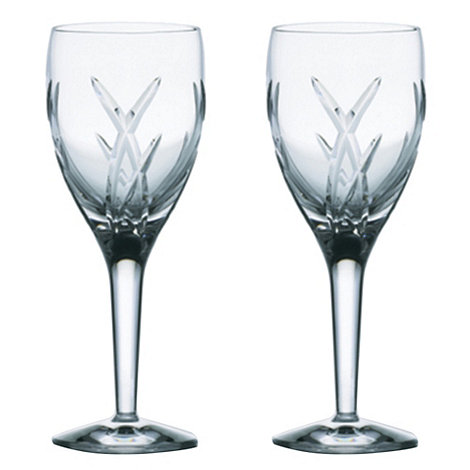 John Rocha at Waterford Crystal - Set of two +Signature+ 24% lead crystal white wine glasses