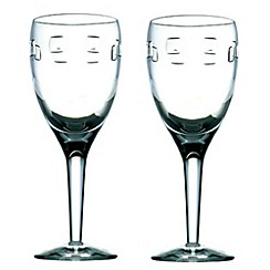John Rocha at Waterford Crystal - Set of two 'Geo' 24% lead crystal white wine glasses