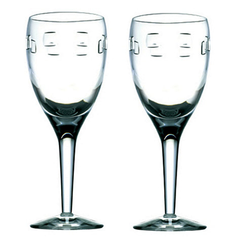 John Rocha at Waterford Crystal - Set of two +Geo+ 24% lead crystal white wine glasses